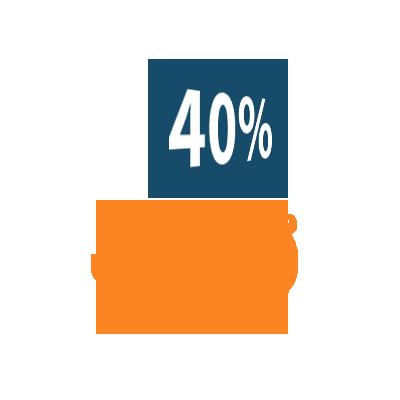 Risparmi fino al 40% sul prezzo finale